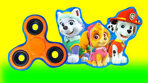 paw patrol fidget spinners game skye marshall chase cars 3