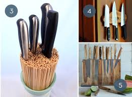 kitchen knife storage ideas toss the block 10 creative ways to store kitchen knives curbly