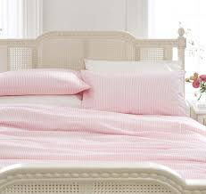 pink striped girls bedding bed linen duvet cover set or fitted