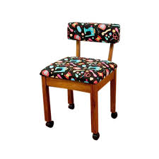 arrow cabinets sewing chair arrow sewing cabinets oak wood black patterned fabric sewing table
