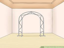 wedding arch how to decorate a wedding arch with pictures wikihow