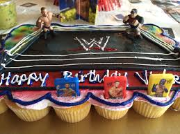 kroger cupcake cake hand printed wwe sign purchased figures for