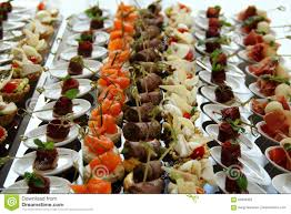 wedding reception food canape set ctock photo stock photo image