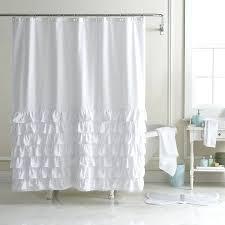 Shower Curtains White Fabric White Fabric Shower Curtain Canada Functionalities Net
