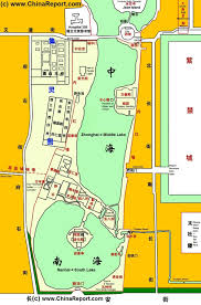 Beijing China Map by Beijing Zhongnanhai Cp Leadership Compound Overview Map 03