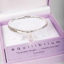 bracelet gift images Equilibrium silver plated sentimental message bangle bracelet jpg