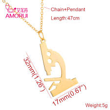 necklace choker length images Online shop amorui microscope pendant women choker chain necklace jpg