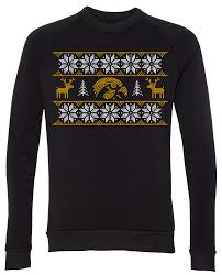 iowa hawkeye sweater hawkeye print crewneck sweatshirt black