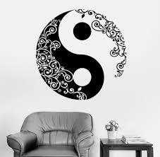 compare prices on stickers art floral wall stickers online mandala wall sticker home decal buddha yin yang floral yoga meditation vinyl decal wall art mural