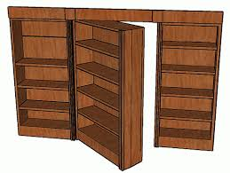 Bookcase Plans With Doors Pivot Bookcase Door Custom Cabinet And Bookcase Design