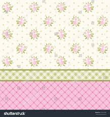 Shabby Chic Style Wallpaper by Vintage Floral Background Pink Roses Shabby Stock Illustration