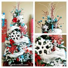 Red White Blue Christmas Decorations by Southern Blue Celebrations Red U0026 Turquoise Christmas Decorating Ideas
