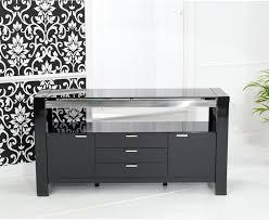 Black Gloss Sideboards Buy Mark Harris Sophia High Gloss Black Sideboard Online Cfs Uk