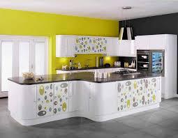 cuisine moderne jaune incroyable cuisine moderne jaune idées de design maison et idées