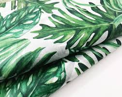 tropical wrapping paper leaf wrapping paper etsy
