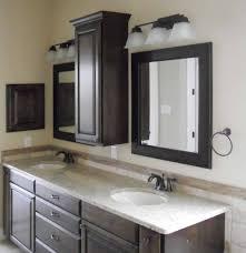 Dark Wood Bathroom Storage by Bathroom Ideas The Loveable Bathroom Countertop Storage