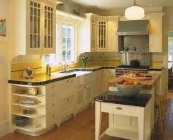 Yellow Kitchen Cabinets - butter yellow kitchen cabinets small but beautiful kitchen yellow