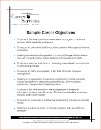 Sample Resume Objectives Statements by Extraordinary Resume Employment Goals Examples In Objective