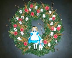 alice and wonderland christmas wreath the enchanted manor