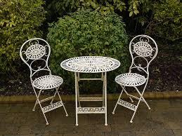 Kirklands Bistro Table Folding Metal Garden Furniture 2 Chairs Oval Table Bistro Set