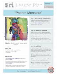 pattern monsters free lesson plan download the art of ed