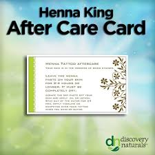 50 pack aftercare cards shop henna tattoo supplies hennaking com
