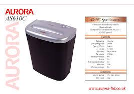 aurora electronics paper shredder as610c user guide