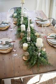 Dining Room Table Setting Ideas Best 25 Christmas Dining Rooms Ideas On Pinterest Rustic Round