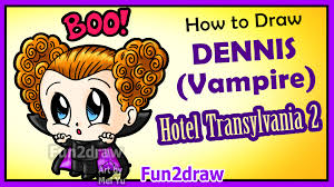 halloween cartoon drawings how to draw cute dracula hotel transylvania halloween vampire