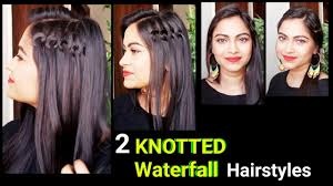 knotted waterfall hairstyles everyday easy hairstyles for medium