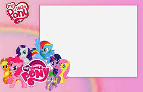 Birth Invitation Cards My Little Pony Birthday Invitations Birthday Party Invitations