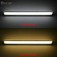 520mm 8w warm white led bathroom mirror light modern minimalist