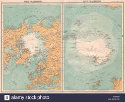 North Pole Map North And South Pole Map Stockfotos U0026 North And South Pole Map