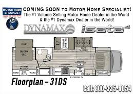 class c rv floor plans 2018 dynamax corp isata 4 series 31dsf luxury class c rv for sale