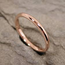 solid gold band minimal ring 14k gold ring 2mm band size 6 solid gold band