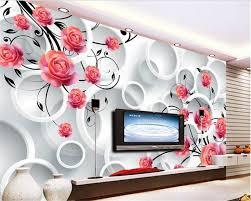 wallpaper bunga lingkaran 20 contoh wallpaper dinding model lingkaran renovasi rumah net