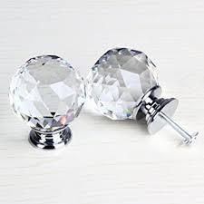 glass crystal door knobs amazon com 50mm clear crystal glass door knob cabinet cupboard