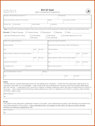 Vehicle Bill Of Sale Form by Bill Of Sale Template Ri Sop Example