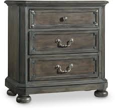 16 Nightstand Hooker Furniture Bedroom Vintage West Three Drawer Nightstand 5700