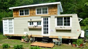 tiny house travel trailer functional slide out play area loft