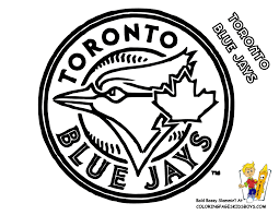 toronto blue jays coloring at yescoloring game day fun