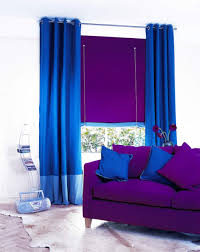 voguish living room style decor performing bold purple couch and