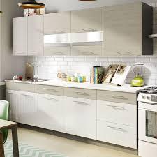 cuisine acrylique ensemble cuisine 260 bois grisé blanc acrylique distribain