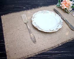 table setting runner and placemats rustic placemat etsy