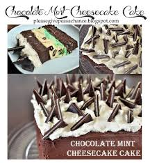 give peas a chance chocolate mint cheesecake cake