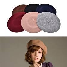 barret hat plain beret hat beret winter autumn women fashion