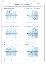 translation in geometry worksheets huanyii com