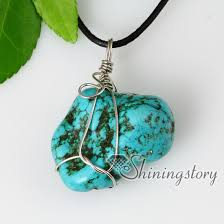 real turquoise stone necklace images 2013 new style semi precious stone turquoise stone pendants jpg