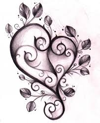 flower and heart tattoo designs group 74