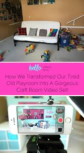 Pink Craft Room - how we transformed our tired old playroom into a gorgeous craft